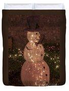 Warm Weather Snowman Duvet Cover