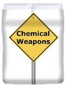 Warning Sign Chemical Weapons Duvet Cover