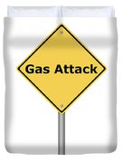 Warning Sign Gas Attack Duvet Cover