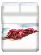 Warped Dried Tomatoes Duvet Cover
