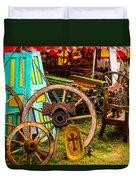 Warrenton Antique Days Wood Wheels And Wonders Duvet Cover