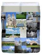 Washington D. C. Collage 2 Duvet Cover