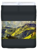 Wasatch Range Spring Colors Duvet Cover