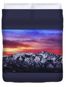 Wasatch Sunrise 2x1 Duvet Cover by Chad Dutson