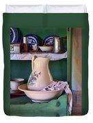 Wash Basin Still Life Duvet Cover