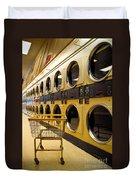 Washing Machines At Laundromat Duvet Cover