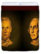 Washington And Lincoln Duvet Cover