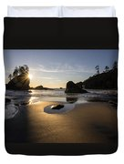Washington Beach Sunstar Dusk Duvet Cover