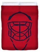 Washington Capitals Goalie Mask Duvet Cover