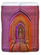 Washington Cathedral Light Show Duvet Cover