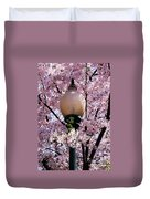 Washington Cherry Blossoms And A Lantern Duvet Cover