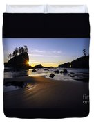 Washington Coast Evening Sunstar Tide Duvet Cover