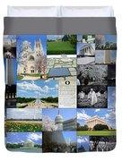 Washington D. C. Collage  Duvet Cover