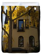 Washington D C Facades - Dupont Circle Neighborhood In Yellow Duvet Cover