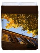 Washington D C Facades - Reflecting On Autumn In Georgetown  Duvet Cover