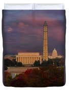 Washington Dc Iconic Landmarks Duvet Cover