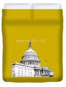 Washington Dc Skyline The Capital Building - Gold Duvet Cover