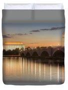 Washington Landmarks At Dawn I Duvet Cover