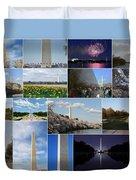 Washington Monument Collage 2 Duvet Cover
