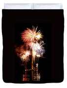 Washington Monument Fireworks 2 Duvet Cover by Stuart Litoff