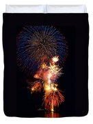 Washington Monument Fireworks 3 Duvet Cover by Stuart Litoff