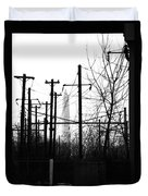 Washington Monument From The Train Yard. Washington Dc Duvet Cover