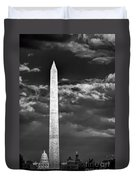 Washington Monument In Cloudy Sky Duvet Cover
