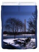 Washington Monument Winter  Duvet Cover