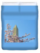 Washington Monument With Blossoms Duvet Cover