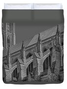 Washington National Cathedral  Bw Duvet Cover