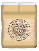 Washington Nationals Vintage Art Duvet Cover
