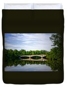 Washington Road Bridge Over Lake Carnegie Princeton Duvet Cover