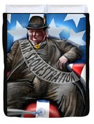 Washington Sitting Down On The Job Duvet Cover