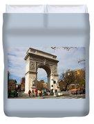 Washington Square Arch New York City Duvet Cover