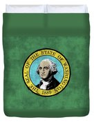 Washington State Flag Duvet Cover