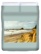 Washington State Seastacks Duvet Cover