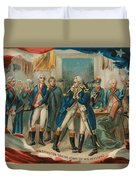 Washington Taking Leave Of His Officers Duvet Cover
