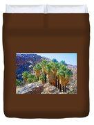 Washingtonian Fan Palm Grove Along Lower Palm Canyon Trail Near Palm Springs-california  Duvet Cover