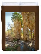 Washingtonian Fan Palms With Large Skirts In Andreas Canyon-ca Duvet Cover