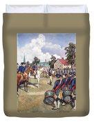 Washingtons Army, 1776 Duvet Cover