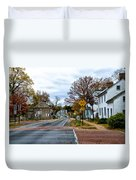 Washington's Crossing In The Fall Duvet Cover