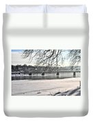 Washingtons Crossing Winter Duvet Cover