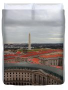 Washintgon Monument From The Tower Of The Old Post Office Tower Duvet Cover