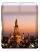 Wat Arun At Sunset - Bangkok Duvet Cover