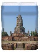 Wat Chaiwatthanaram From The East Dtha0187 Duvet Cover