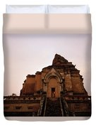 Wat Chedi Luang Sunset Duvet Cover