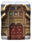 Wat Duang Dee Phra Ubosot Door  Dthcm0297 Duvet Cover