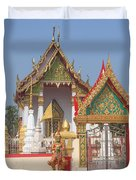 Wat Kampaeng Phra Ubosot And Gate Dtha0142 Duvet Cover