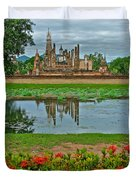 Wat Mahathat In13th Century Sukhothai Historical Park-thailand Duvet Cover