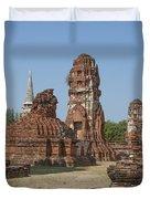 Wat Mahathat Prangs And Chedi Dtha0231 Duvet Cover